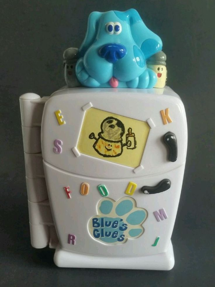 BLUES CLUES TALKING ELECTRONIC INTERACTIVE REFRIGERATOR HEALTHY FOOD GAME 1999  #Tyco