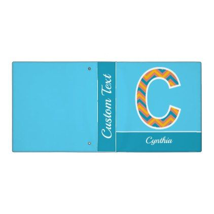 Chevron Monogram Letter C Binder - home gifts ideas decor special unique custom individual customized individualized