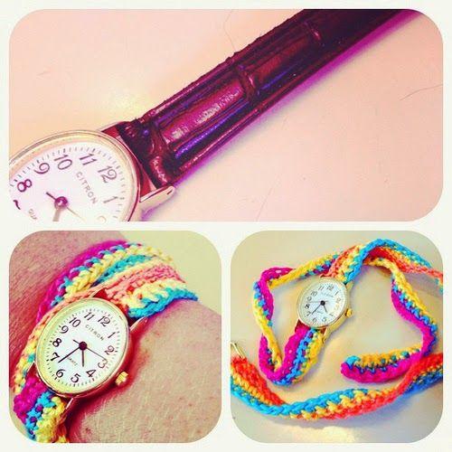 Festival Watch Strap :: Free Crochet Pattern  ༺✿Teresa Restegui http://www.pinterest.com/teretegui/✿༻