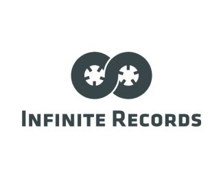 This logo is amazing! The combination of shape that represent infinity and the shape of records!