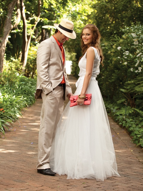 Gown by Joss Bridal Wear. Wedding Inspirations magazine Summer 2011 (December) www.weddinginspirations.co.za