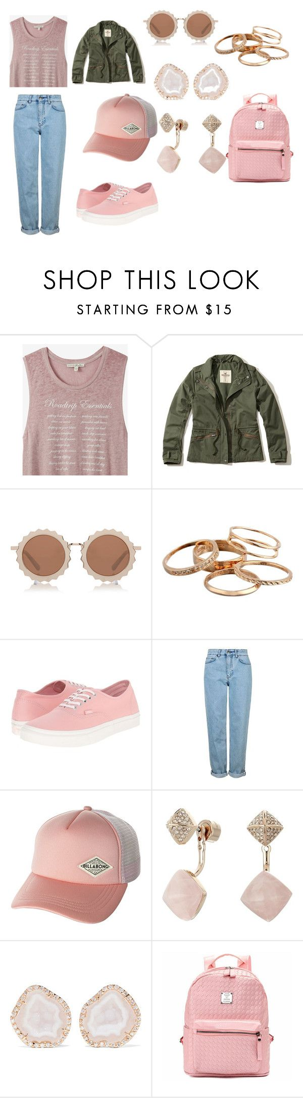 """Just Another Day"" by abigailharris414 on Polyvore featuring Express, Hollister Co., House of Holland, Kendra Scott, Vans, Topshop, Billabong, Michael Kors and Kimberly McDonald"
