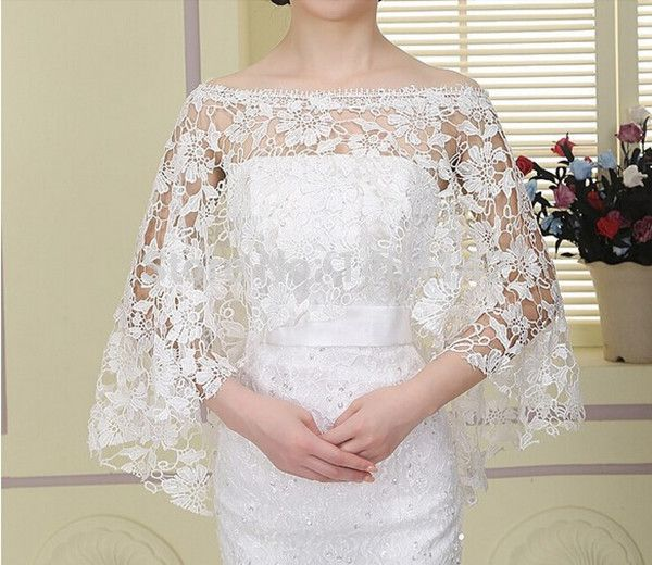 Charming Wedding Coat White Lace Wedding Boleros 3/4 Sleeves Bridal Shawls&Jackets Wedding Accessories For Wedding Dresses Cheap-in Wedding Jackets / Wrap from Weddings & Events on Aliexpress.com | Alibaba Group
