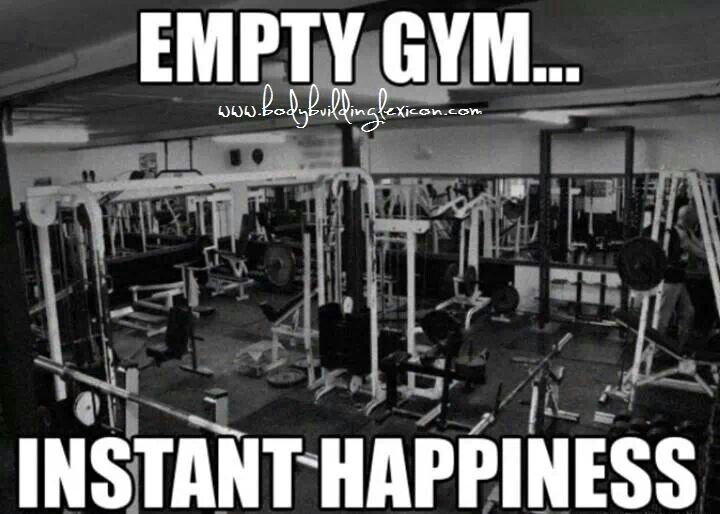 And THIS is why I work out at home! My gym is always empty ❤️