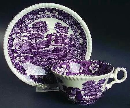 Purple transferware. Would love to find some...