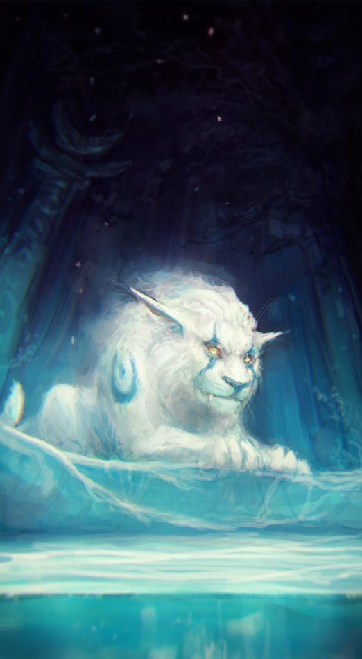 150207 by exellero - This looks just like the massive Amarrok demon, A'Kllut, the gigantic white wolf which heralds the end of days (Ragnorrok) in Book 2.