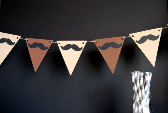 like the colors of this mustache bunting