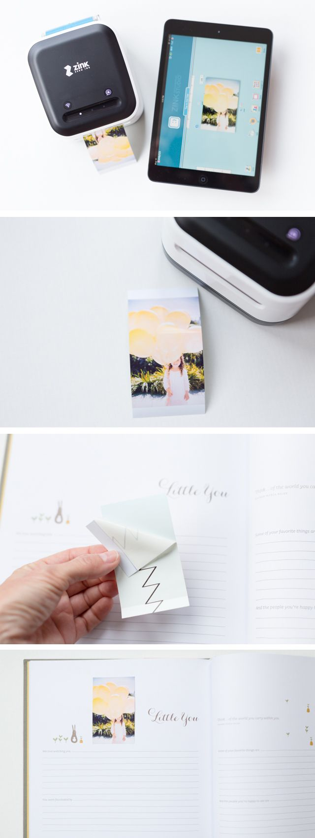 Wireless and mobile smart app printer that will print your instagram and smart phone photos without using ink - very cool.  Love this idea of using it for a gratitude journal.