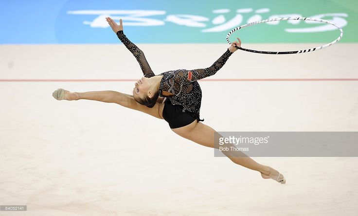 Simona Peycheva of Bulgaria competes in the Individual All-Around final of the rhythmic gymnastics held at the University of Science and Technology Beijing Gymnasium on Day 15 of the Beijing 2008 Olympic Games on August 23, 2008 in Beijing, China.
