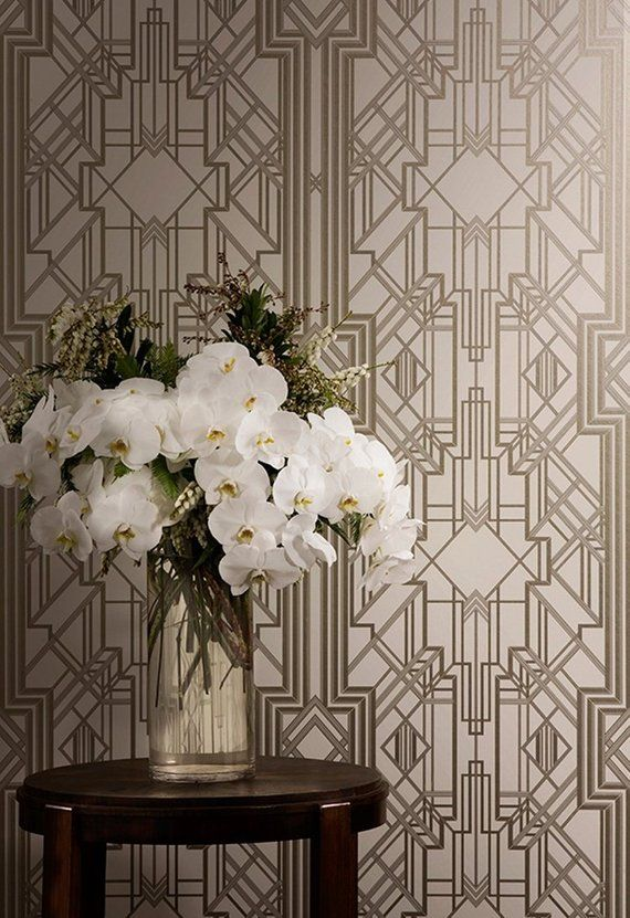 The Great Gatsby Iconic Art Deco Wallpaper Design Wallcovering