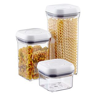 "Good Grips® 4"" Square POP Canisters - I love these for unpopped popcorn and candy as well as shaped pasta."