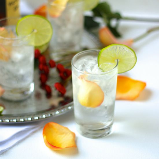 A good Gin and tonic is a triple threat of G & T greatness. This recipe is the prettiest - & best - gin & tonic you'll ever have. Garnish with rose petals!