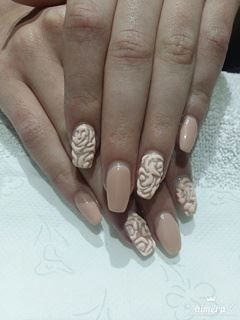 Perfect 3D relief nail art by #bodynsoul ! By Maria Xupolita #nailart #nails #3D #reliefnails