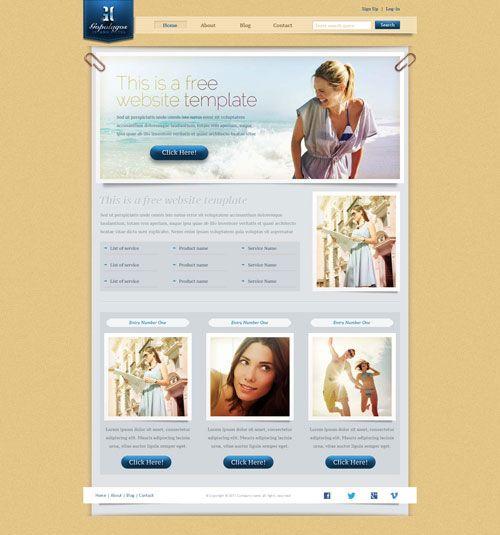 Island Hotel Website Template