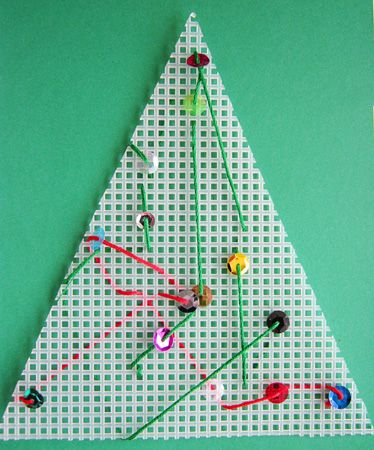 Simple Christmas Sewing Activity - Re-pinned by @PediaStaff – Please Visit http://ht.ly/63sNt for all our pediatric therapy pins