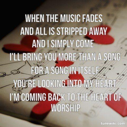 Michael W. Smith - The Heart Of Worship Lyrics