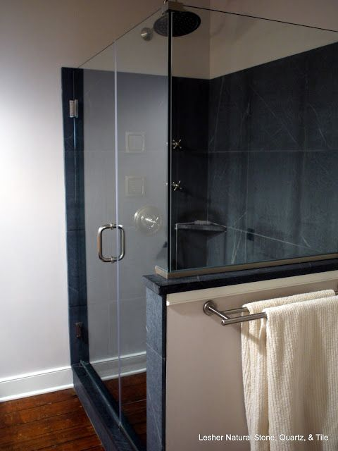 Soapstone Tiled Shower By Lesher