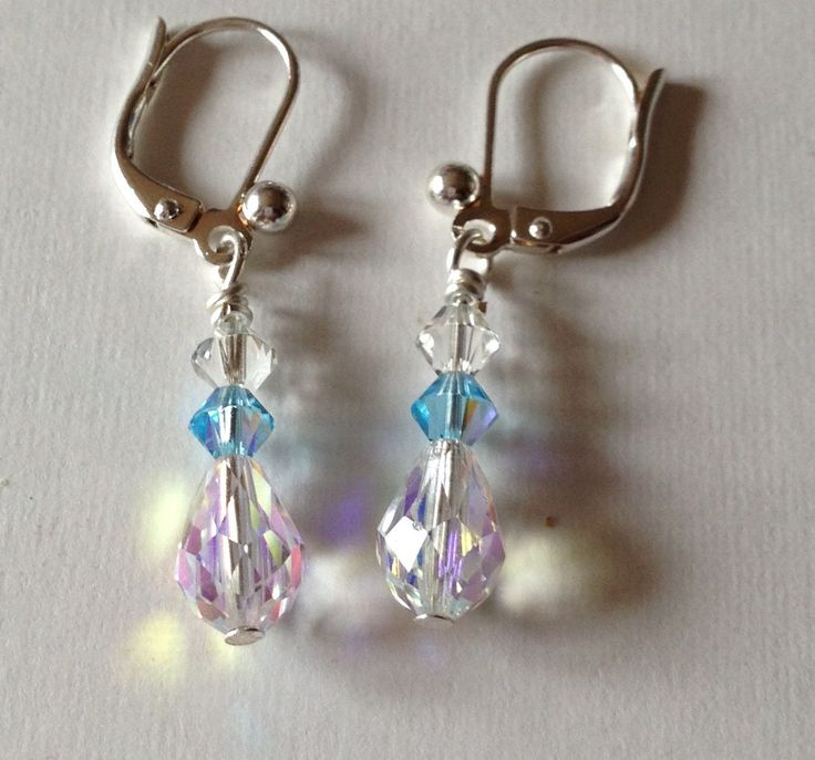 Something blue Bridal earrings by ChellysGems on Etsy