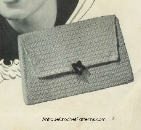 Classic Crocheted Bag - free pattern for crocheting a bag/purse