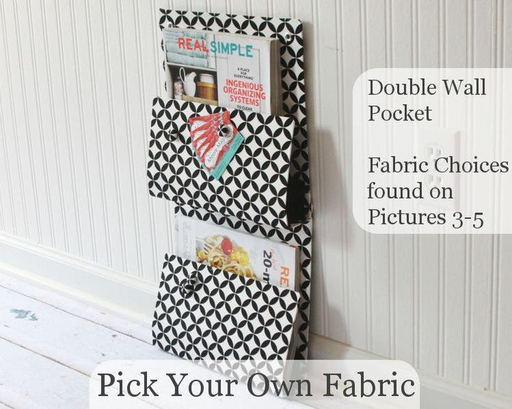 Pick Your Own Fabric - Double Wall Pocket - Two Pocket Wall Organizer