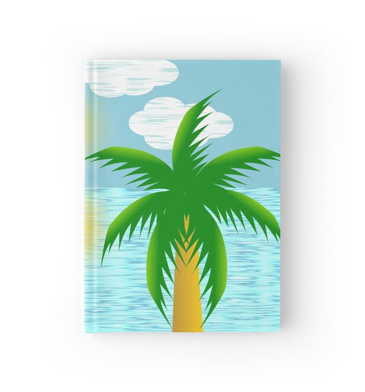#Palm trees on a #tropical #beach. A beautiful #diary for your #summer memories.
