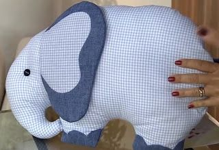 Blog Claudia Tenório: Faça um lindo travesseiro infantil de elefante