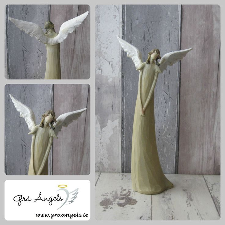 One of our newest arrivals is this beautifully elegant Peaceful Angel. Her subtle design makes her perfect to be placed in any room in the home. She is available on our website here http://bit.ly/1T6rMId   This Angel is made from Resin and is 26cm in height x 13cm in width.