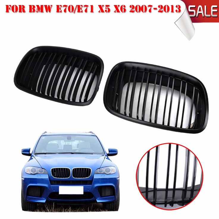 Matte Black Dual Slat Grill Front Kidney Grille For BMW
