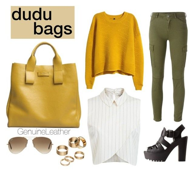 """dudu bags giveaway"" by nove-windy on Polyvore featuring DUDU, H&M, Miss Selfridge, 7 For All Mankind, Charlotte Russe, Ray-Ban, Apt. 9, GenuineLeather, dudubags and dudubagsgiveaway"
