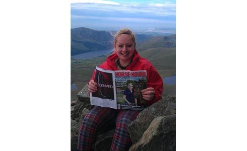Dominique Jessica Beer settles down for a read on top of Snowdon