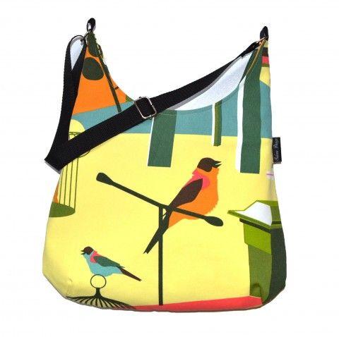 Kabelka Bird on Yelow kabelka originální kabelky taška letní duhová