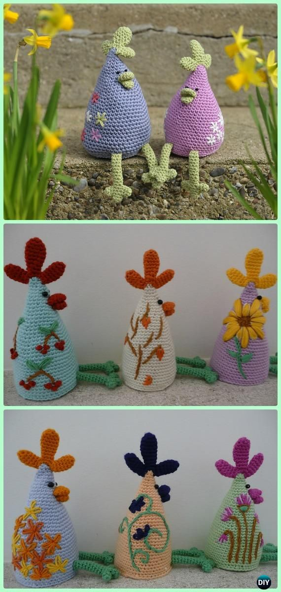 Crochet Eggstremely Cosy Chicken Set Free Pattern #Crochet; #Easter