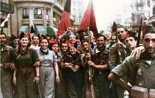 Anarchists in Catalonia prior or the Spanish Civil War, July 1936