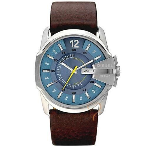 Ρολόι Diesel Man Blue Dial Brown Leather Strap - BeMine.gr