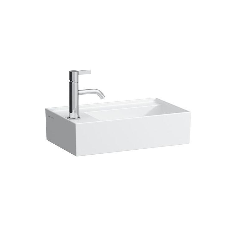 Small washbasin, asymmetric, tap bank left   LAUFEN Bathrooms