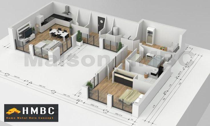 286 best maison images on pinterest house blueprints for Modele maison kara