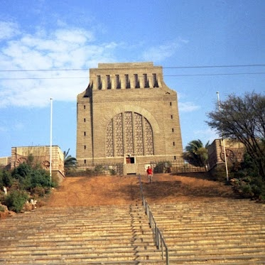 Voortrekker Monument, Pretoria, South Africa. Built in 1937-1949 to commemorate the Voortrekkers who left the Cape Colony between 1835 and 1854. The City where I grew up and went to school and where my parents still live.