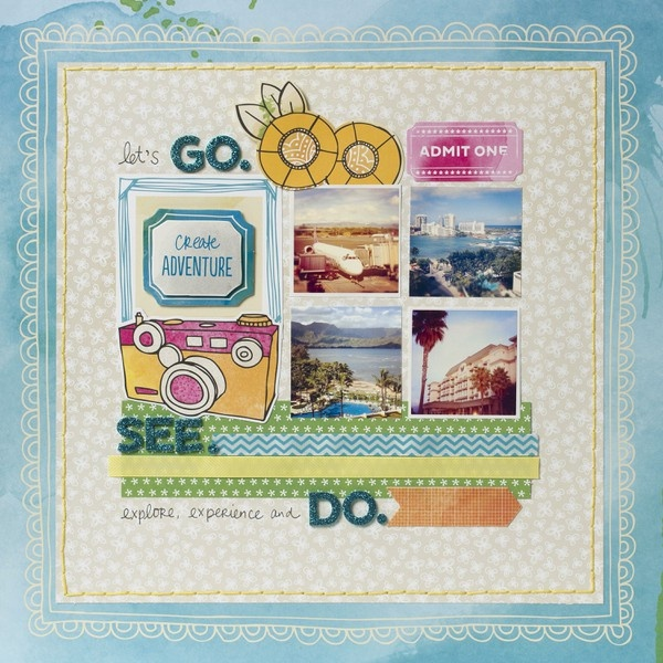 go. see. do. - Two Peas in a Bucket: Scrapbook Ideas, Scrapbook Inspiration, Amy Tans, Scrapbook Galleries, Scrapbook Layout, Inspiration Scrapbook Etc, Amy Tangerine, A Scrapbook, American Crafts