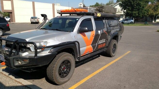"""2013 Tacoma belongs to """"Expedition Overland"""" in Montana. Awesome overlanding rig."""