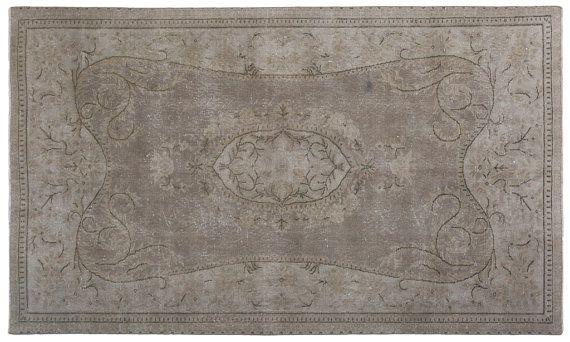 5' x 8' Vintage Rugs,Pastel Color Turkish Oushak Rug,Decorative Turkish Oushak Rug,Vintage Turkish distressed Rug,Pastel area wool floor rug