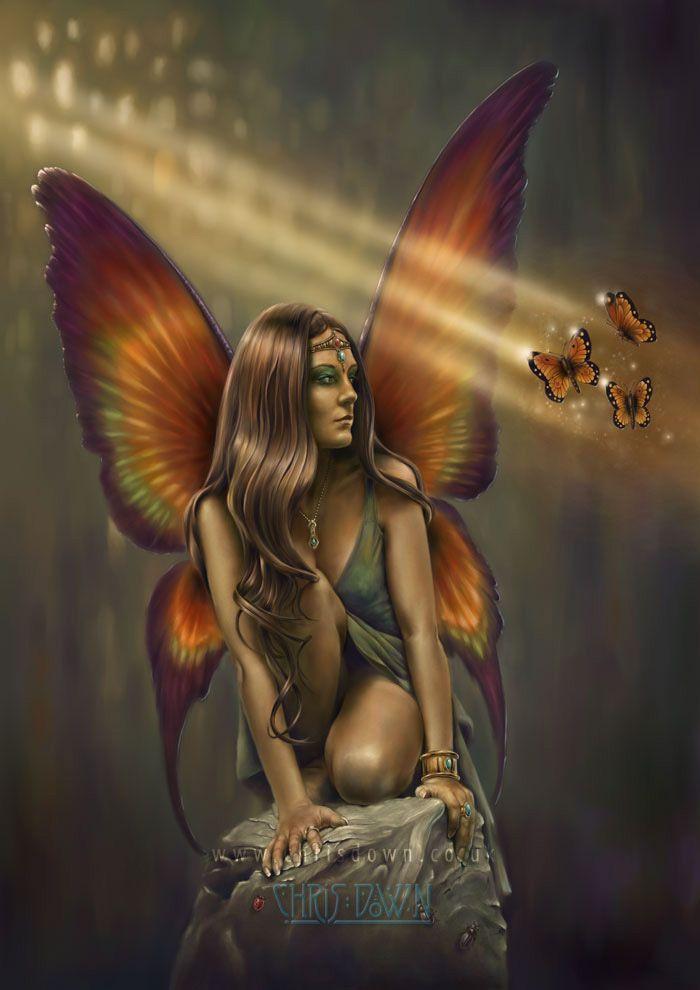 Enigma by Chris Down - Fantasy Art, Celtic Art, Fairy Art, Gothic Art and Steampunk Art