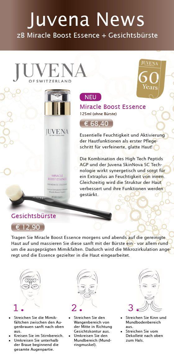 #Juvena Miracle #Boost #Essence inkl. GRATIS Gesichtsbürste. Hier finden Sie Tipps, wie Sie das Serum mit der Gesichts-Bürste richtig anwenden.