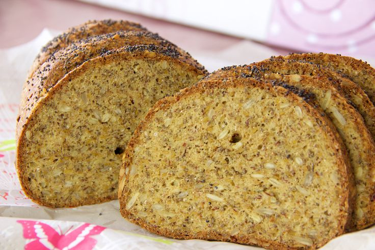 Chia-Leinsamen-Hüttenkäse-Brot Low Carb                                                                                                                                                                                 Mehr