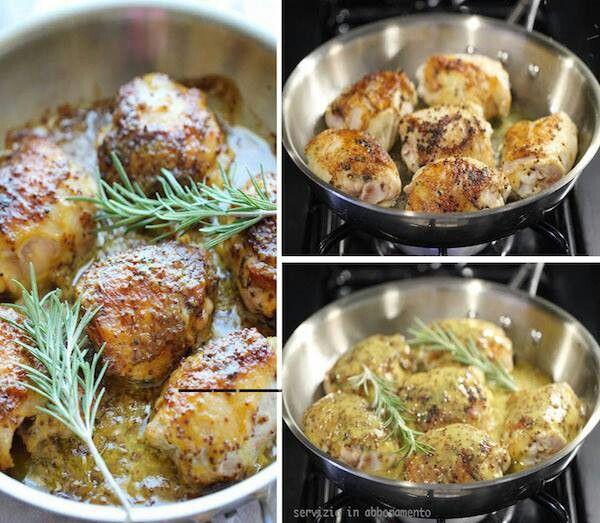 Bocconcini di pollo alla senape e al miele