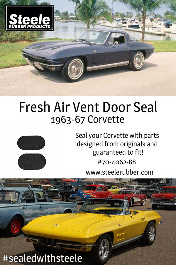 Fresh Air Vent Door Seal for 196367 Corvette A pair of