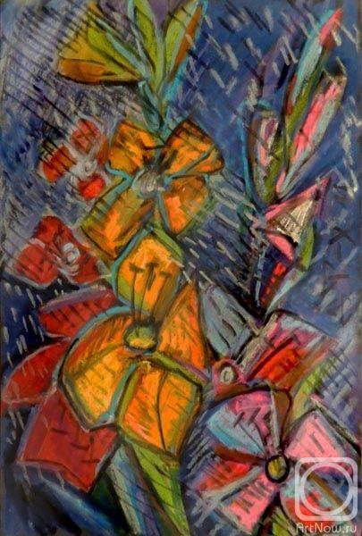 Торик-Хурматова Дилара. Цветы под дождем