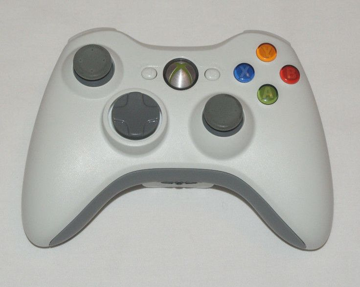 Official OEM Genuine Microsoft XBOX 360 Wireless Controller White Great #Microsoft