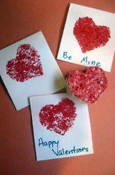 Kitchen Sponge Heart Cards