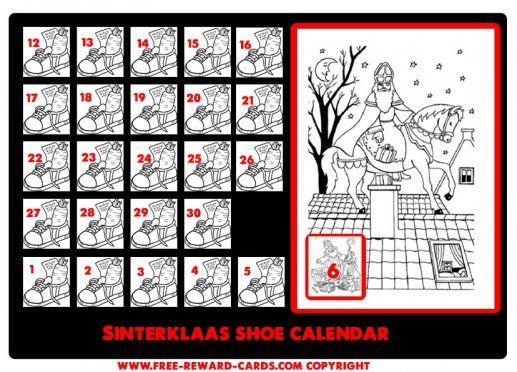 Shoe calendar Sint 6 dec