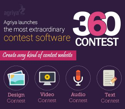 Agriya launched the most innovative and intuitive contest software-360Contest. It is a smart software can assist you to launch any kind of high-speed designs, audio, video and text contest website in 48 hours.  To know more about contest software: http://www.agriya.com/products/contest-software